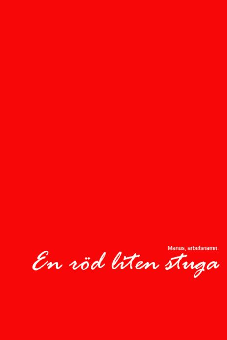 en röd liten stuga